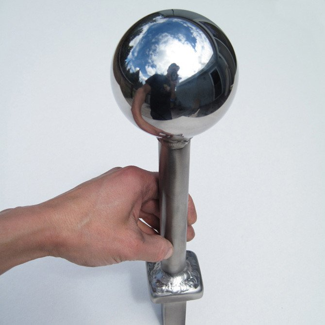 Mirror Black Stainless Steel Sphere with Pipe