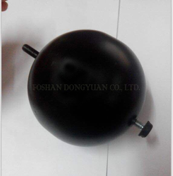 Black Stainless Steel Ball with Threaded Bar