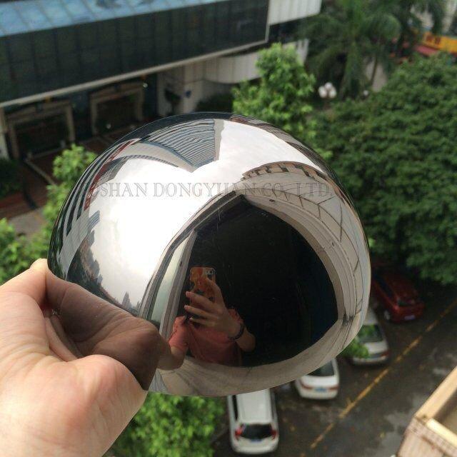 Painted-Black Stainless Steel Hemisphere
